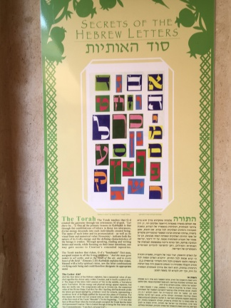 Kabbalistic teaching about the Hebrew letters found at Ascent, a teaching center and hostel.